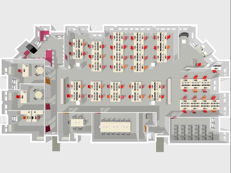 Architecte de bureau amso plan d 39 am nagement de bureau for Plan amenagement cuisine restaurant