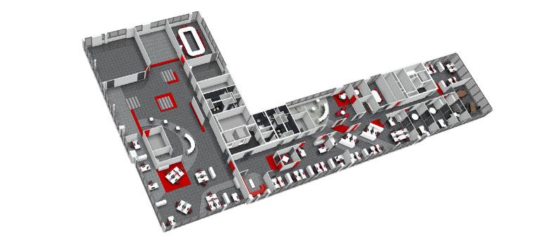 am nagement des bureaux d une soci t d ing nierie en open space. Black Bedroom Furniture Sets. Home Design Ideas