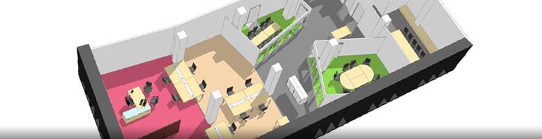 Am nagement d 39 open space bureaux professionnels am nagement de locaux professionnels amso - Amenagement bureaux professionnels ...