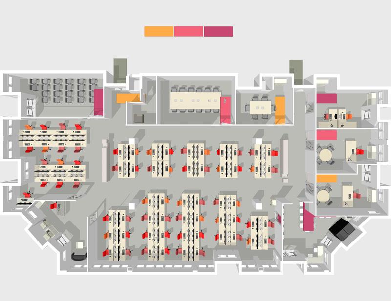 Amso amenagement d 39 espaces de travail agence de for Plan amenagement cuisine restaurant