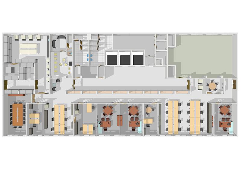 Architecte de bureau amso plan d 39 am nagement de bureau for Immeuble bureau plan
