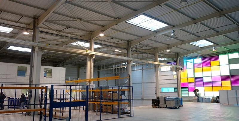 14 8 - Aménagement bureau, mezzanine d'entrepôt de bâtiment industriel