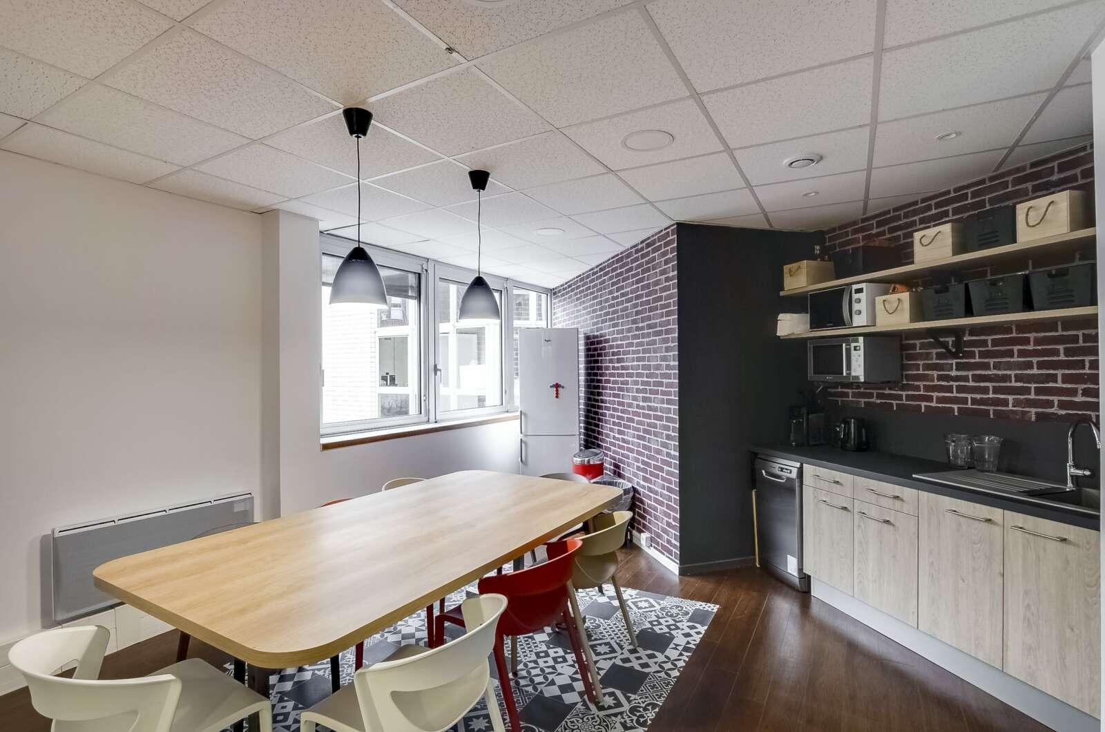 aménagement, cloison cafétéria, cuisine et restaurant d'entreprise