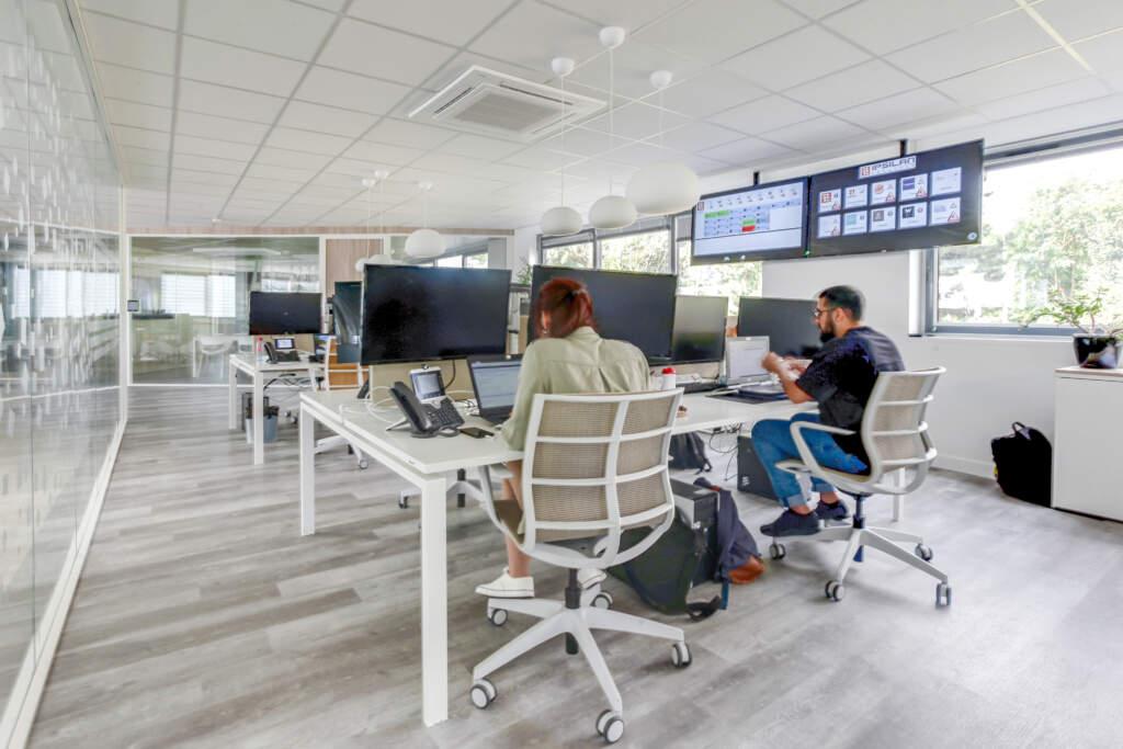 Aménagement bureau open space