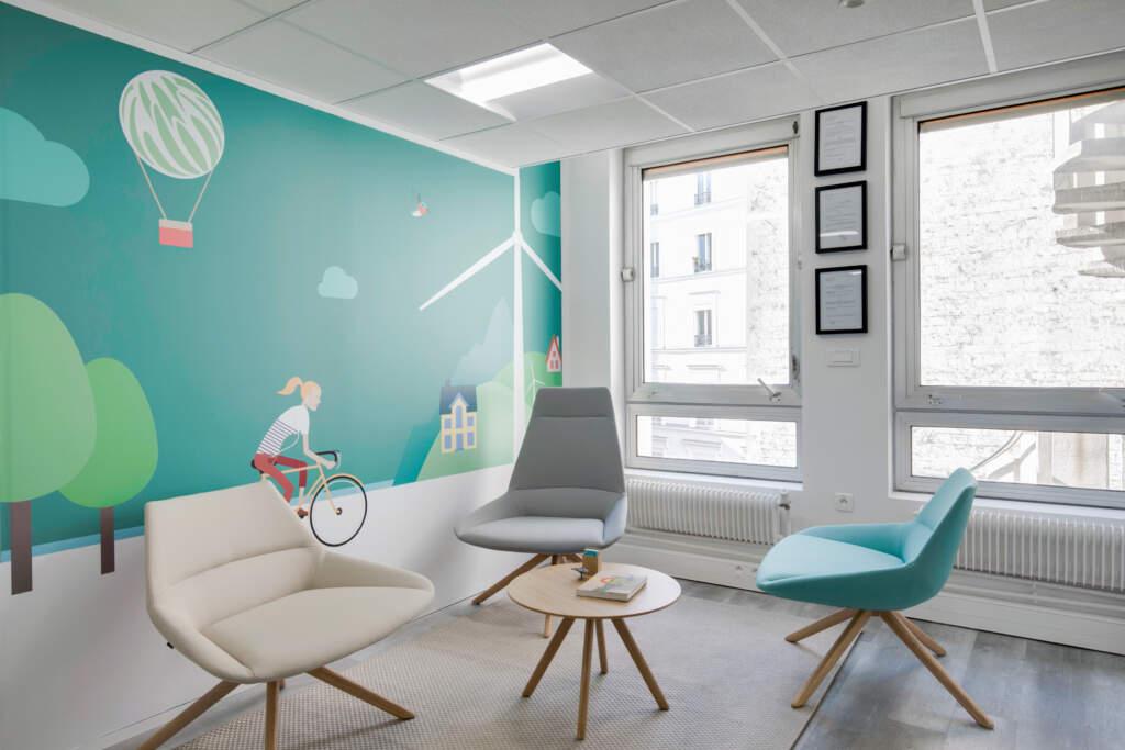Aménagement espace accueil Paris