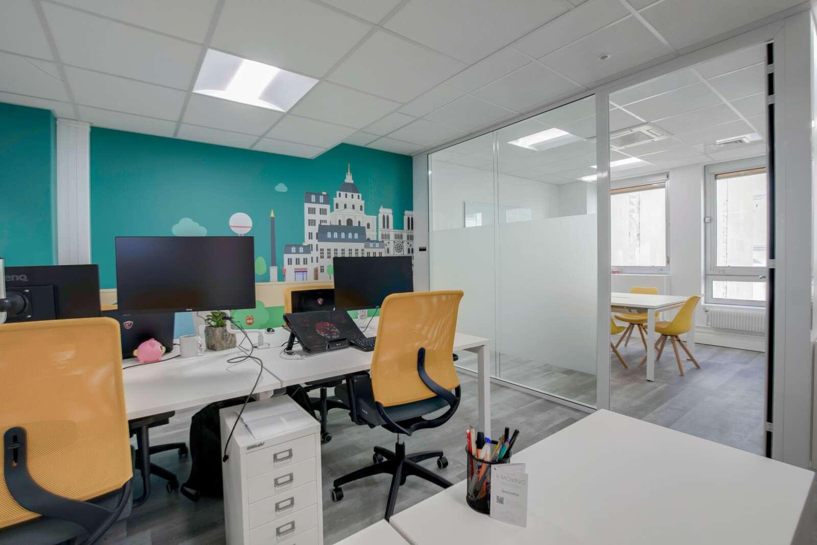 aménagement d'un bureau de conseil dans l'environnement à paris