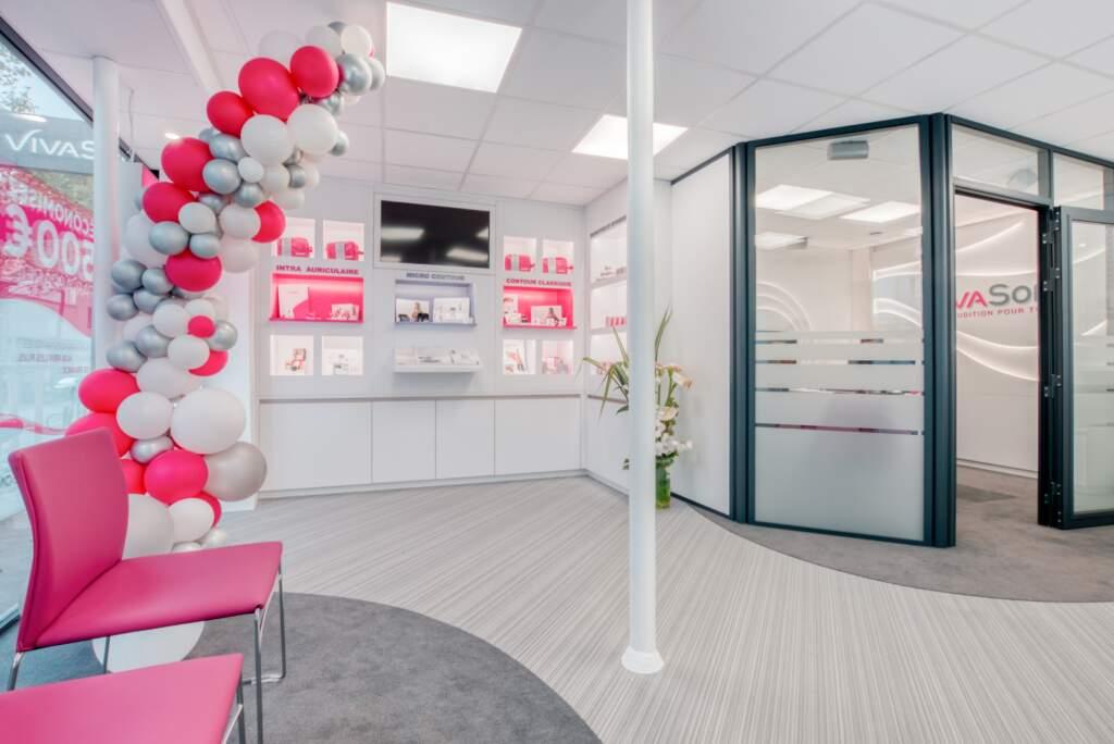 creation magasin correction auditive 006 1024x684 - Aménagement centre audioprothésiste - boutique de correction auditive