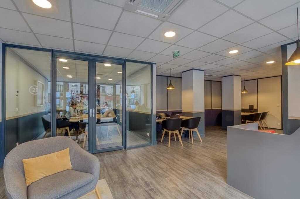 amenagement agcence immobiliere boulogne 7 1024x682 - Création d'une agence immobilière Century 21 à Boulogne Billancourt